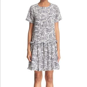 Opening Ceremony 'Mazie' Komondor Print Silk Dress